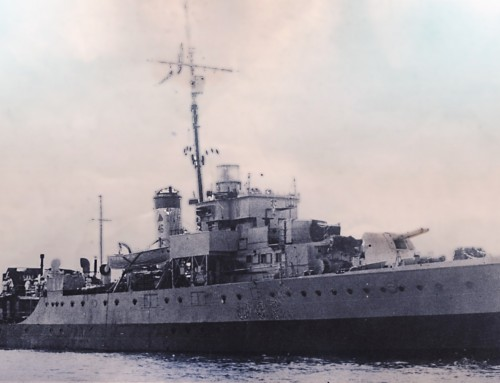 World War Two Warship photograph retouched