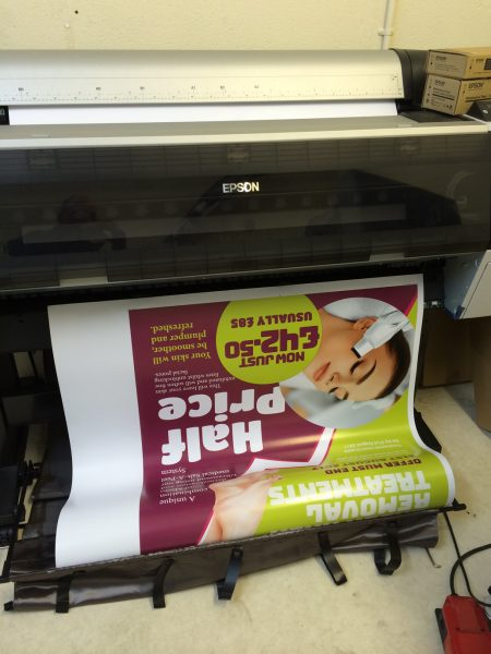 a1 posters being printed